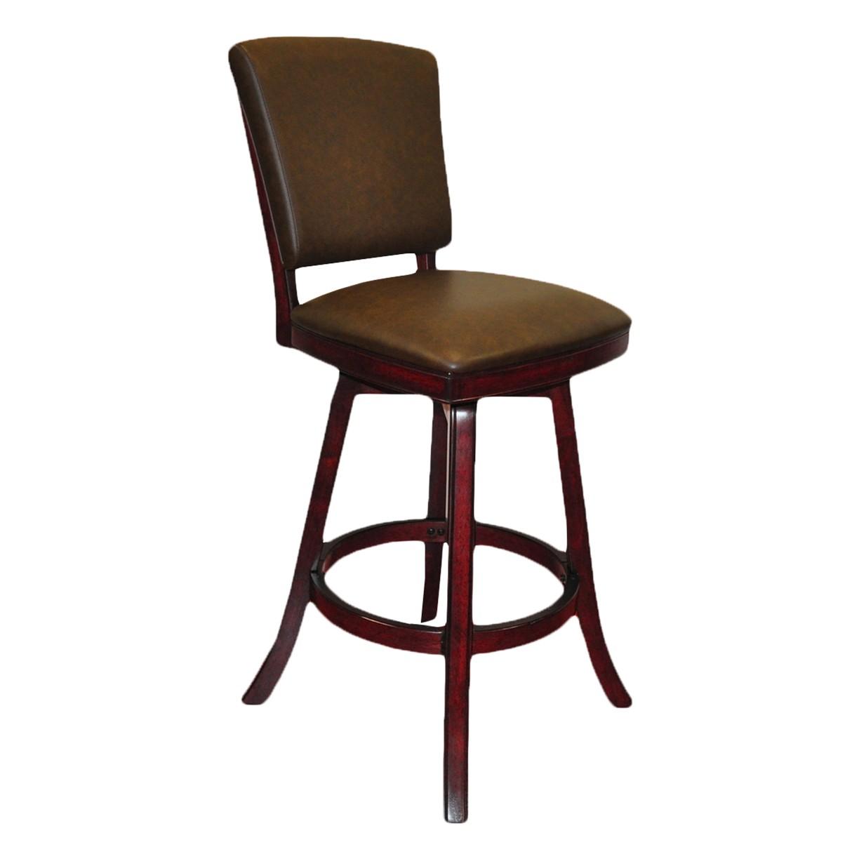 Peachy Imperial Bar Stool With Back Set Of 2 Mahogany Antique Walnut Black Camellatalisay Diy Chair Ideas Camellatalisaycom