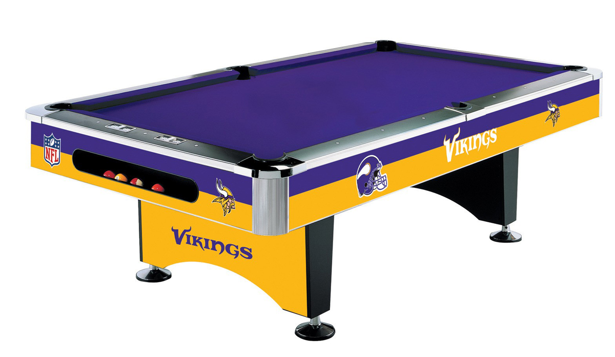MINNESOTA VIKINGS 8 FT. POOL TABLE