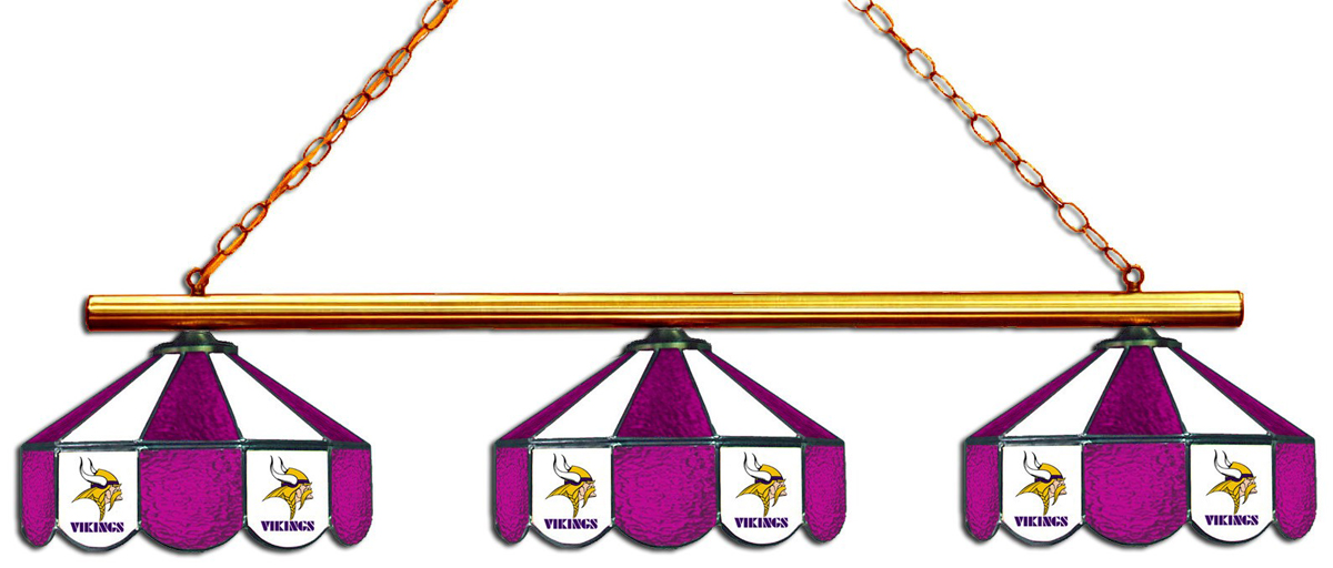 MINNESOTA VIKINGS 3 SHADE GLASS LAMP