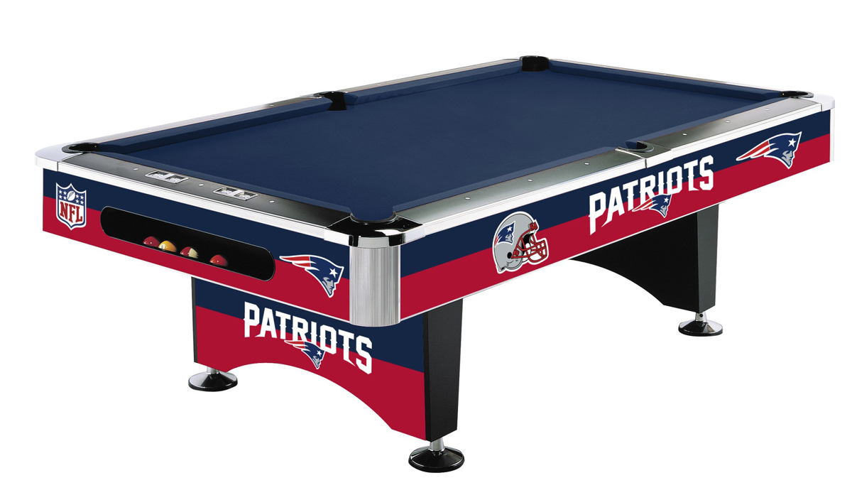 NEW ENGLAND PATRIOTS 8-FT. POOL TABLE
