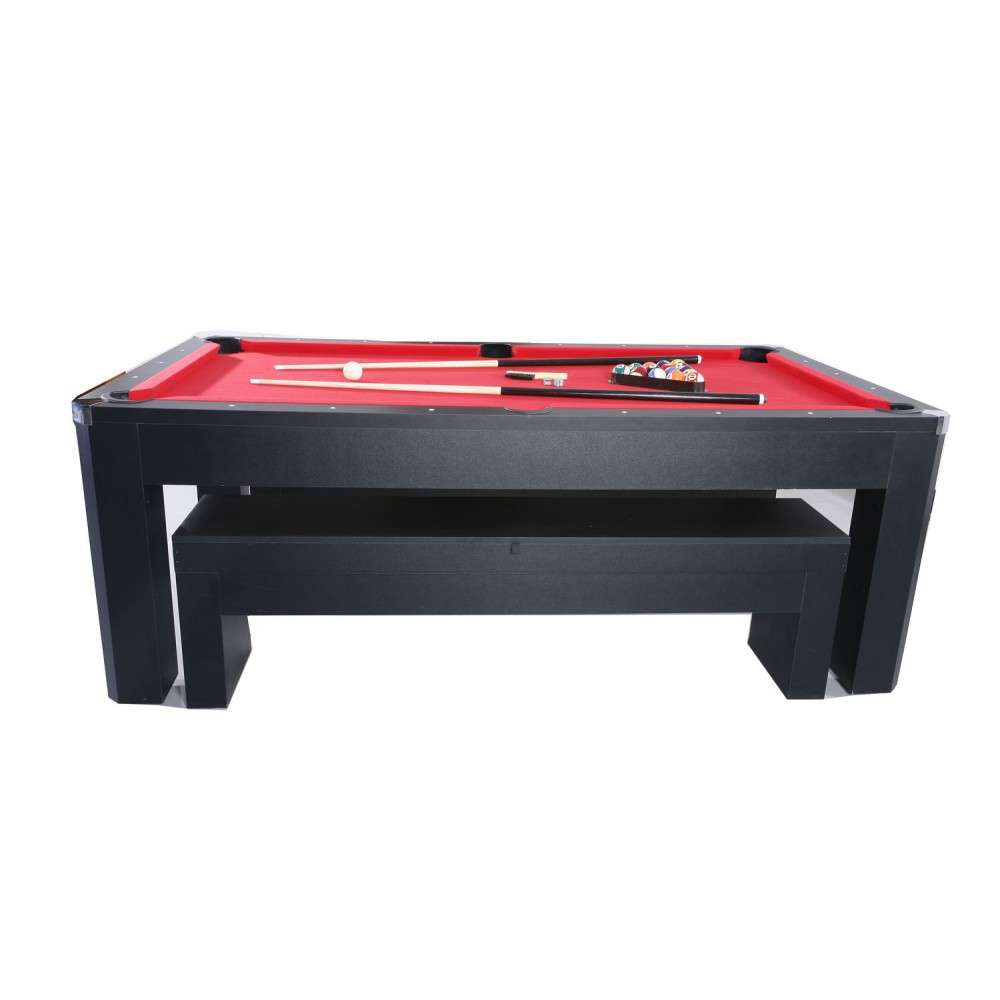 7' Park Avenue Pool Table Set With Benches & Top
