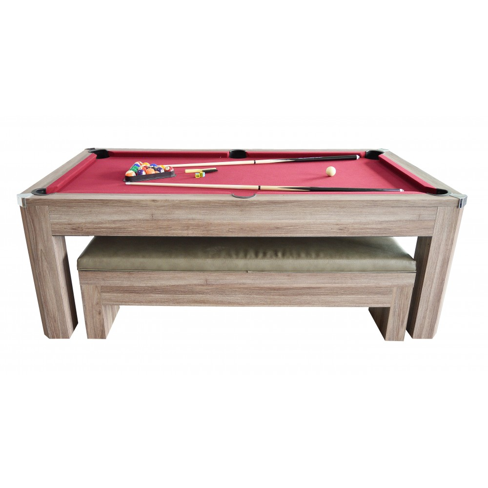 Newport Pool Table Set With Benches GameTablesOnlinecom - Newport pool table