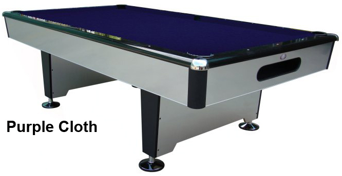 playcraft silver knight pool table with drop pockets sizes 7u0027 or 8u0027 - Slate Pool Table