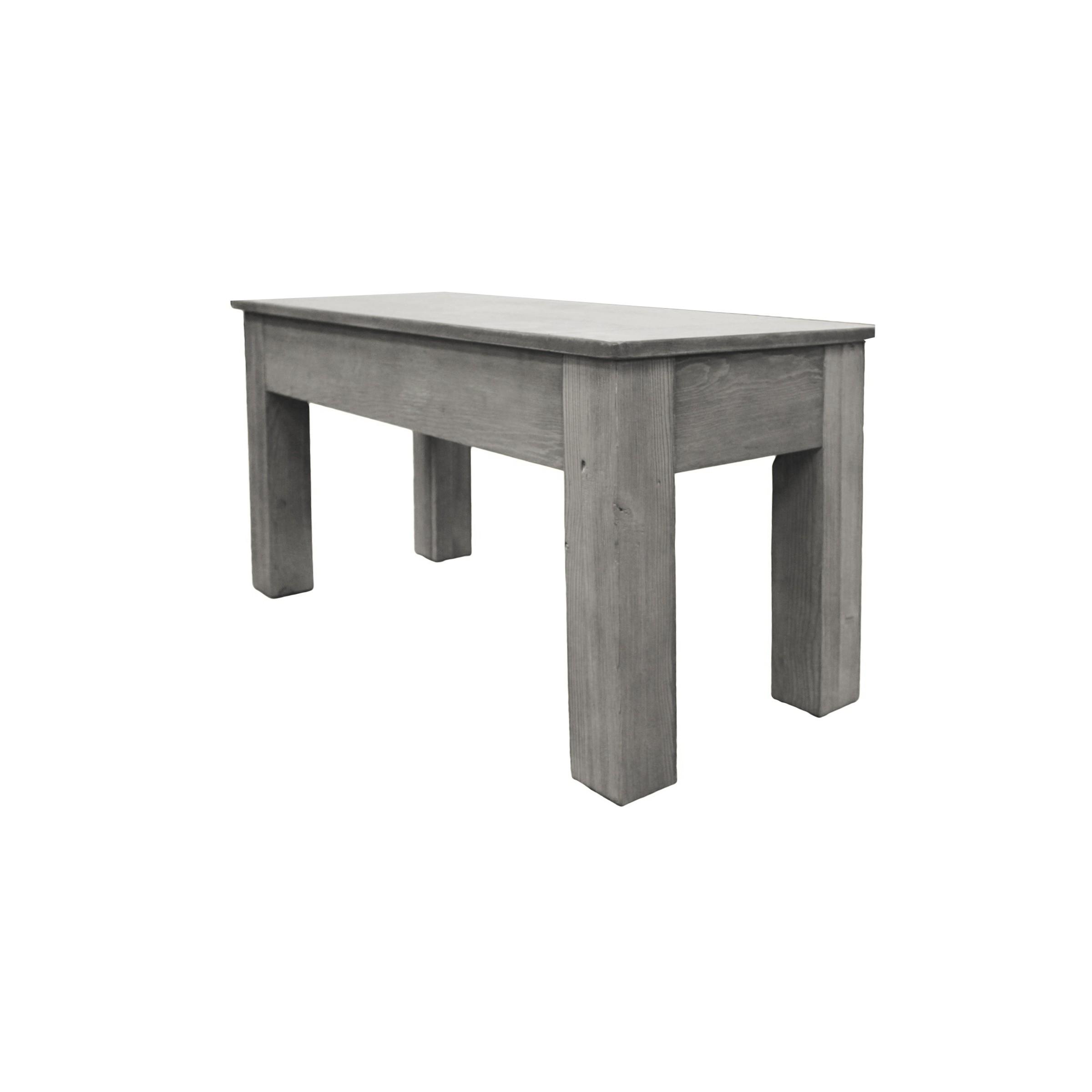 Excellent 36 Inch Long Bench Silver Mist Machost Co Dining Chair Design Ideas Machostcouk