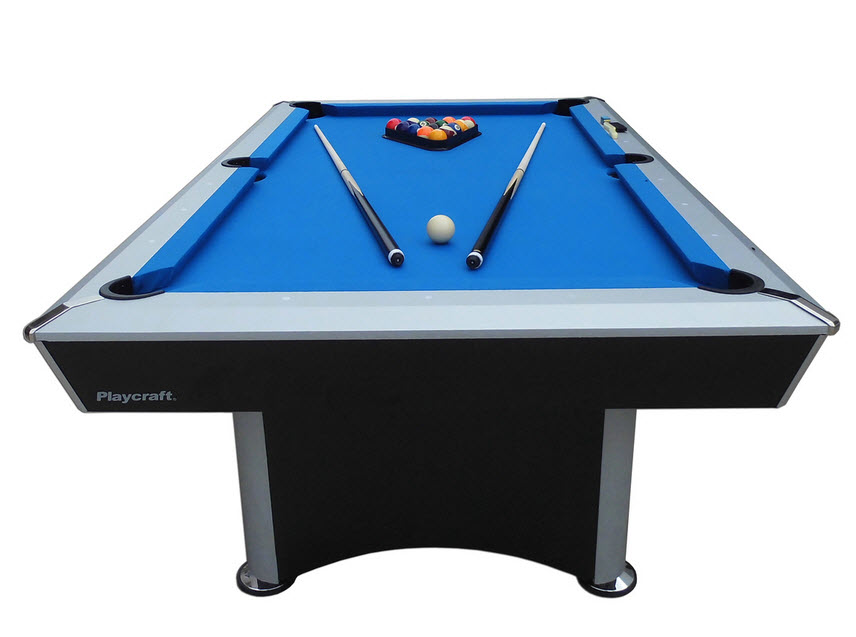 NonSlate Convertible Pool Table GameTablesOnlinecom - Electric blue pool table