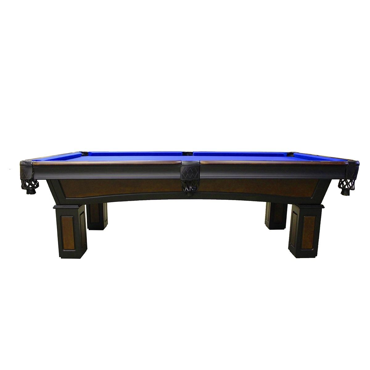 8u0027 Imperial Truro Antique Walnut Pool Table With Black Legs    GameTablesOnline.com