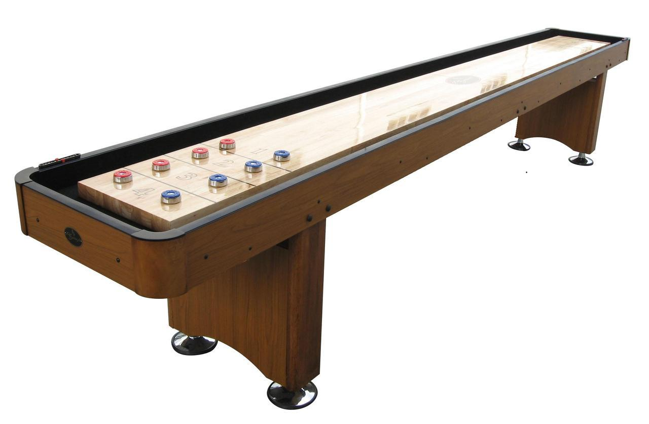 9 Honey Oak Playcraft Woodbridge Shuffleboard Table