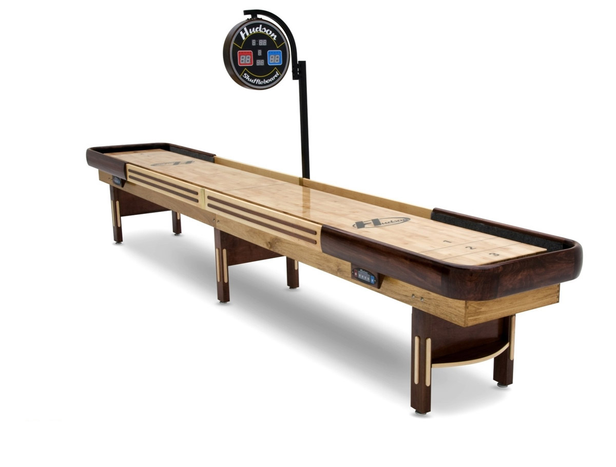 20 39 grand hudson deluxe shuffleboard table. Black Bedroom Furniture Sets. Home Design Ideas