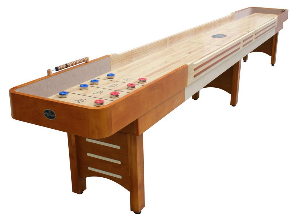 12 39 honey maple playcraft coventry shuffleboard table for Table table table