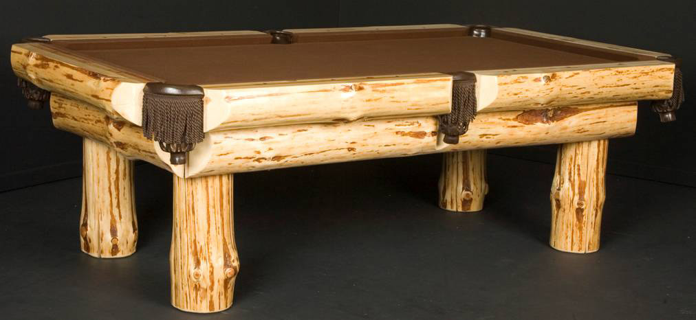 Klondike Log Pool Table
