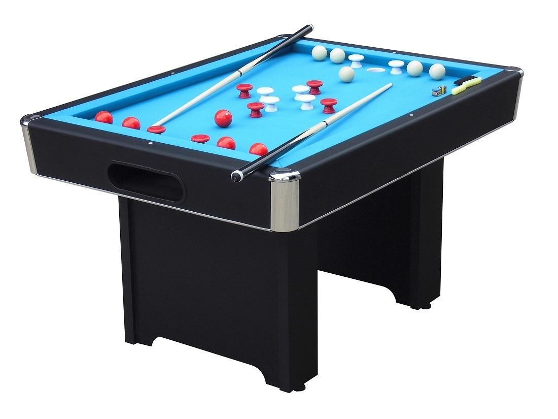 Hartford slate bed black bumper pool table - Slate pool table ...
