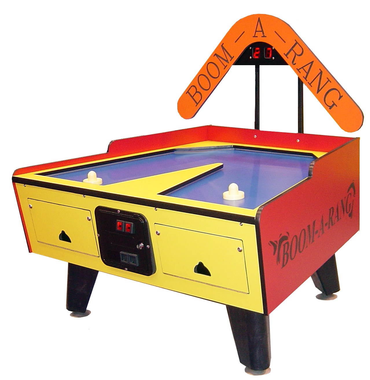 boomarang coin operated hockey table