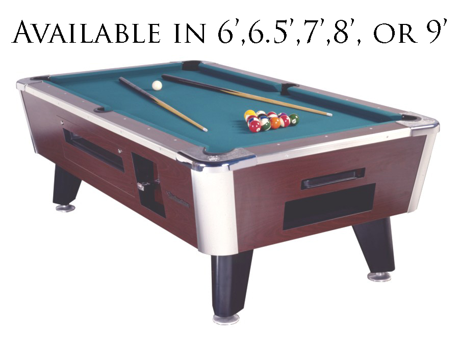 Great American Eagle Pool Table Sizes 6 5 7