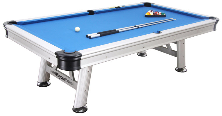 8 39 exteria outdoor pool table with accessories - Billiard table accessories ...