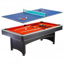 7u0027 Maverick Pool Table W/ Table Tennis