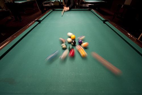 Break a Billiards Rack like a Champ