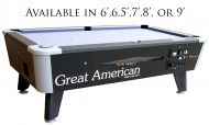 Great American Black Diamond Pool Table