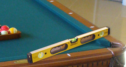 The Proper Way To Level A Billiards Table - Pool table leveling system