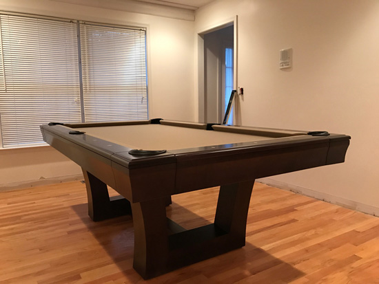 Imperial Bedford Weathered Oak Pool Table (8u0027), Features Premium Black Felt..  In Home Installed In Caledonia, Michigan  10/12/2017