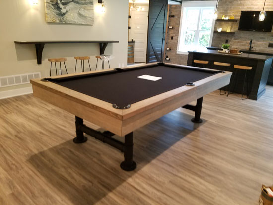 Pool Table In Home Installation Pictures