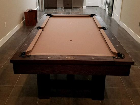Pool Table In Home Installation Pictures GameTablesOnlinecom - Reno pool table