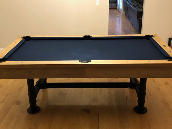 7u0027 Imperial Bedford Weathered Oak Pool Table With Dining Top Installed In Saint  Louis, Missouri   2/19/2018