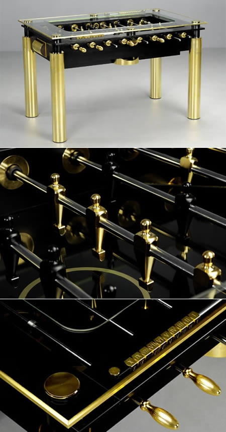 The Lux Gold Foosball Table